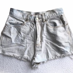 J. Crew high rise white jean shorts size 4